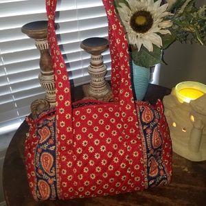 Vera Bradley American Red Daisy Bag